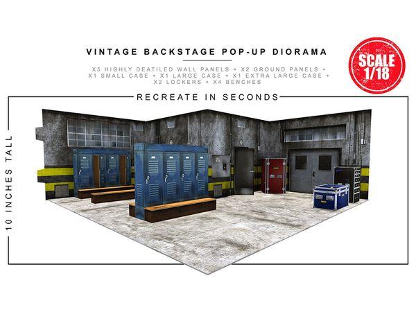*PRE-SALE* Extreme Sets Vintage Backstage 1/18 Scale Pop-Up Diorama