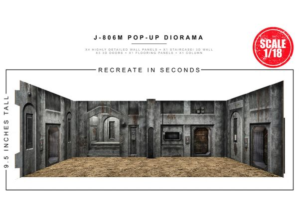 *PRE-SALE* Extreme Sets J-806M Space Street 1/18 Scale Pop-Up Diorama