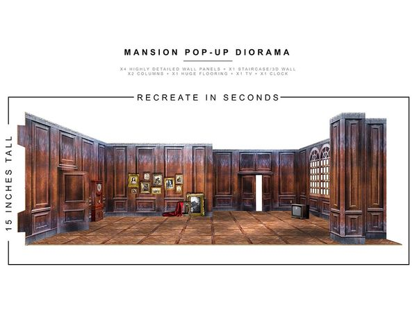 *PRE-SALE* Extreme Sets Mansion 1/12 Scale Pop-Up Diorama