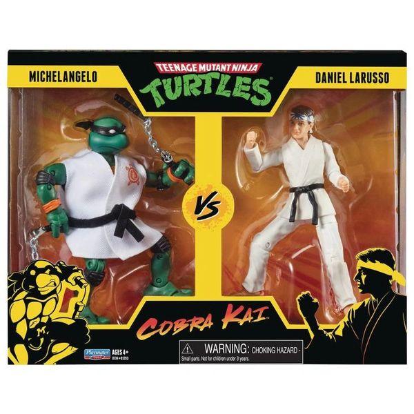 *PRE-SALE* TMNT x Cobra Kai Michelangelo vs. Daniel LaRusso Action Figure Two-Pack