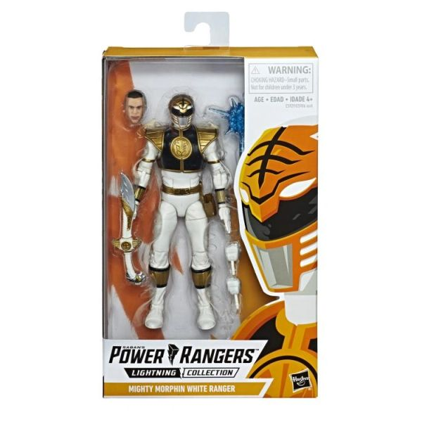 Power Rangers Lighting Collection Mighty Morphin White Ranger Action Figure
