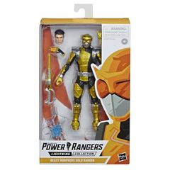 Power Rangers Lighting Collection Beast Morphers Gold Ranger Action Figure