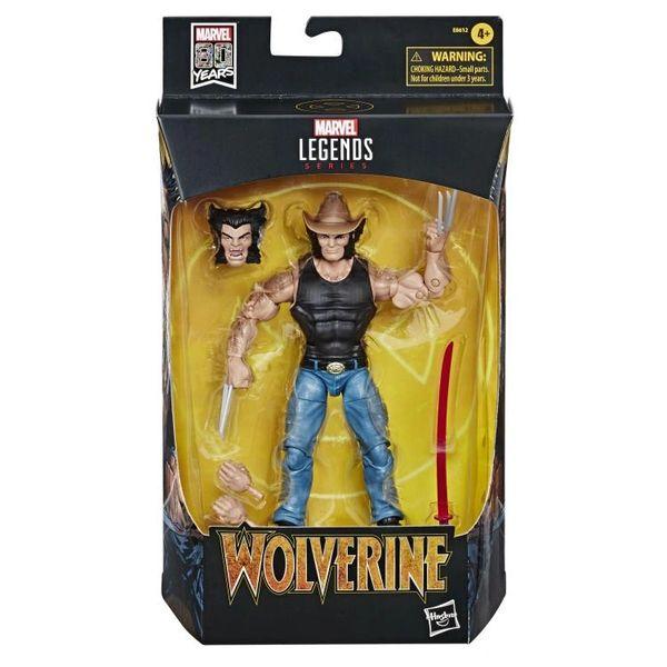 Marvel Comics 80th Anniversary Marvel Legends Cowboy Logan Wolverine Action Figure