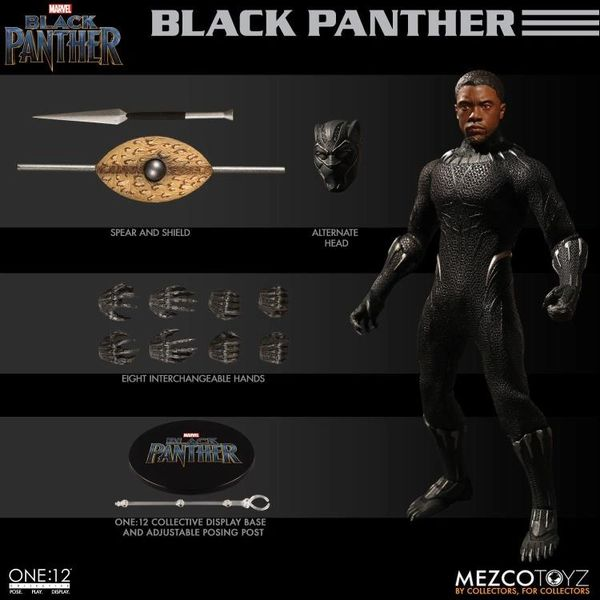 Mezco One:12 Collective Black Panther Action Figure