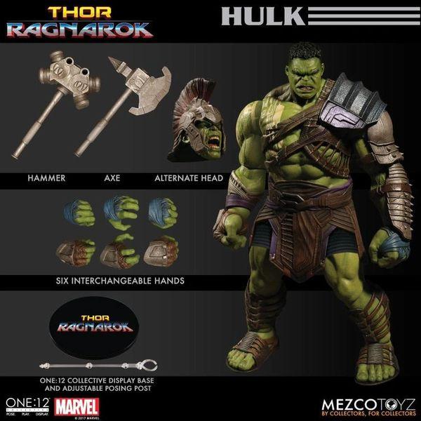 Mezco One:12 Collective Thor Ragnarok Hulk Action Figure