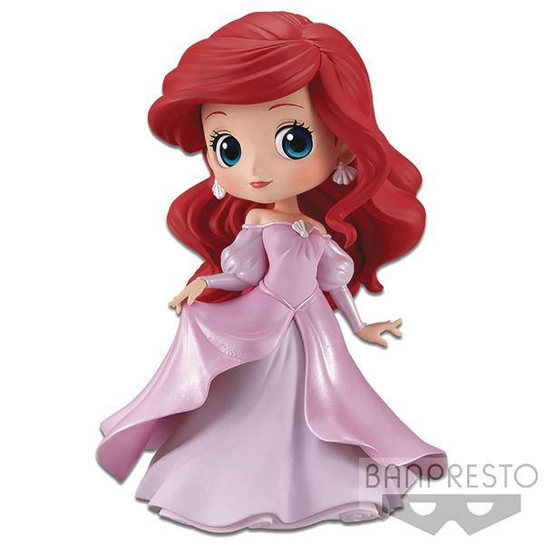 Disney Princess Q-Posket Little Mermaid Ariel Mini Figure (Pink Dress Version)