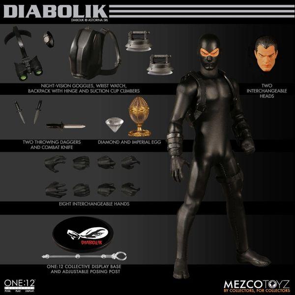 Mezco One:12 Collective Diabolik Action Figure