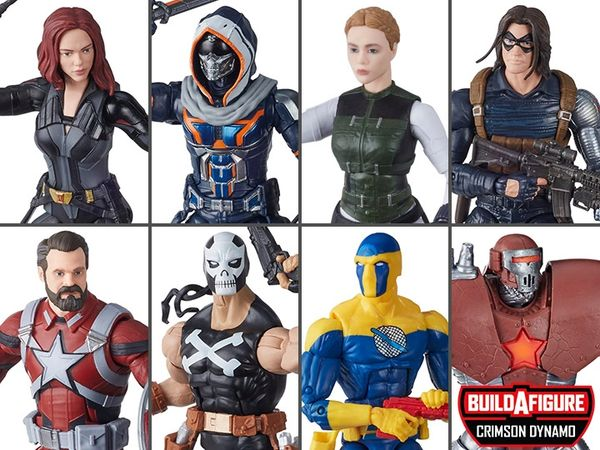 Marvel Legends Black Widow Wave 1 Set of 7 Figures (Crimson Dynamo Series)