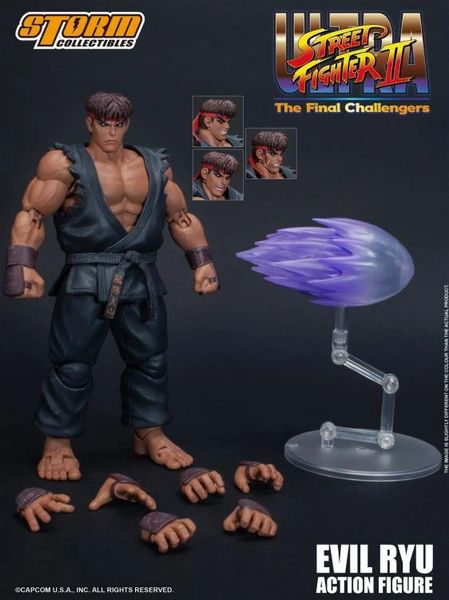 Storm Collectibles Street Fighter II Evil Ryu 1/12 Scale Action Figure