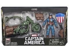 Marvel Legends Ultimate Captain America with Motorcycle Action Figure Set