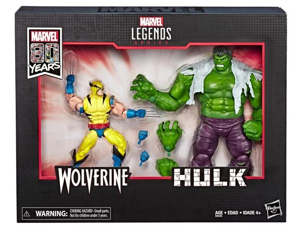 Marvel Legends Marvel Comics 80th Anniversary Hulk Vs. Wolverine Action Figure Two-Pack