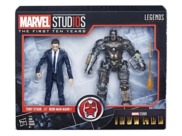 Marvel Legends Marvel Studios: The First Ten Years Tony Stark & Mark I Action Figure Two-Pack