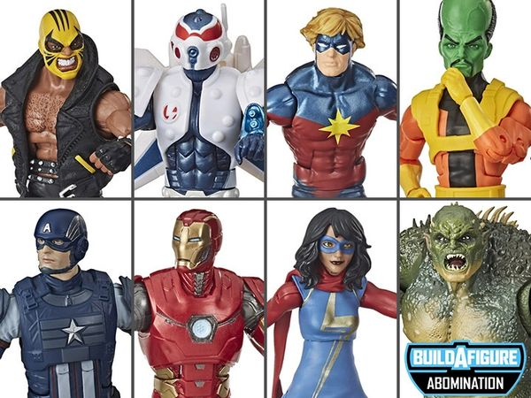 Marvel Legends Avengers Gamerverse Wave 1 Set of 7 Action Figures (Abomination Build-a-Figure)