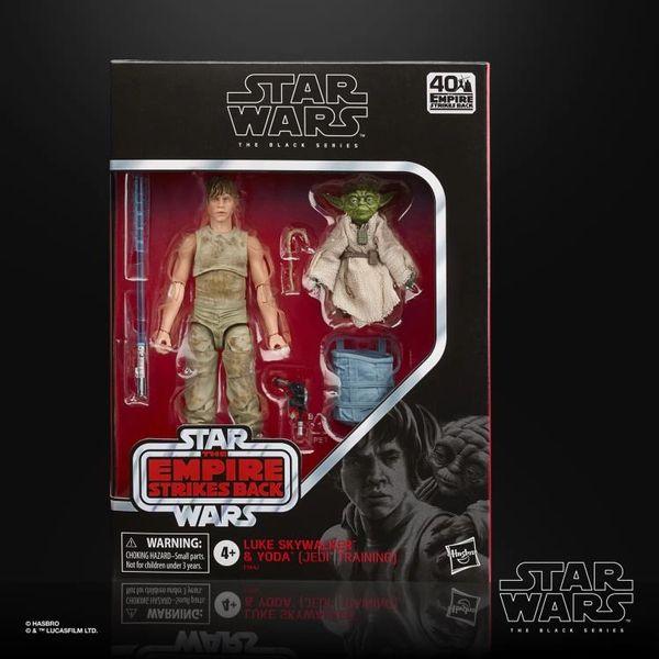 "Star Wars: The Empire Strikes Back 40th Anniversary Black Series 6"" Deluxe Luke Skywalker & Yoda (Jedi Training) Action Figure Two-Pack"