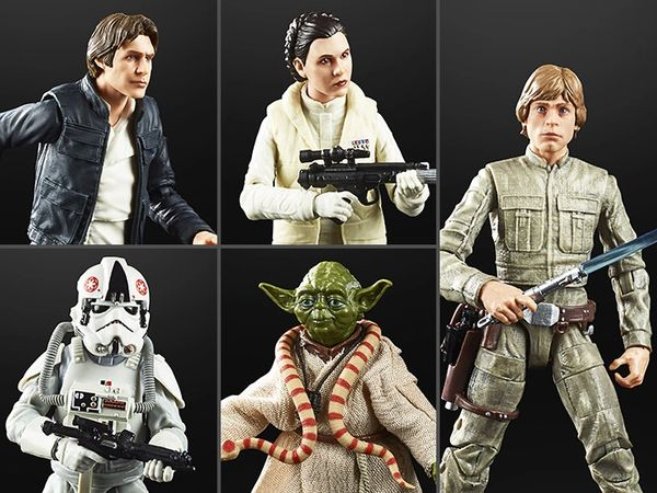 """*PRE-SALE* Star Wars The Empire Strikes Back 40th Anniversary Black Series 6"""" Wave 1 Set of 5 Figures"""