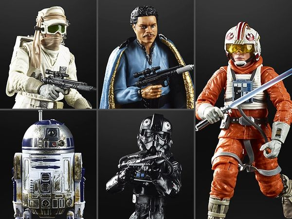 """*PRE-SALE* Star Wars The Empire Strikes Back 40th Anniversary Black Series 6"""" Wave 2 Set of 5 Figures"""
