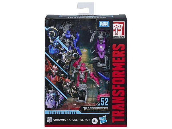Transformers Studio Series No.52 Deluxe Class Chromia, Arcee, and Elita-1