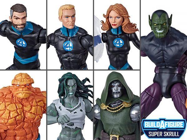 Marvel Legends Fantastic Four Wave 1 Set of 6 Figures (Super Skrull BAF)