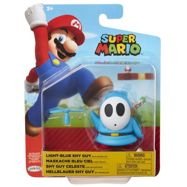World of Nintendo Series 19 Shy Guy (Lt. Blue) Action Figure