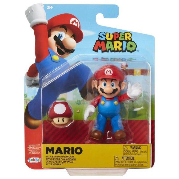 World of Nintendo Series 19 Mario (with Red Mushroom) Action Figure
