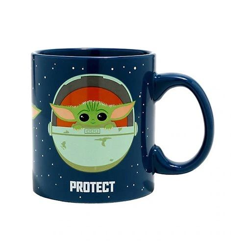 Star Wars: The Mandalorian The Child (Baby Yoda) Protect Attack Snack 20 oz. Mug