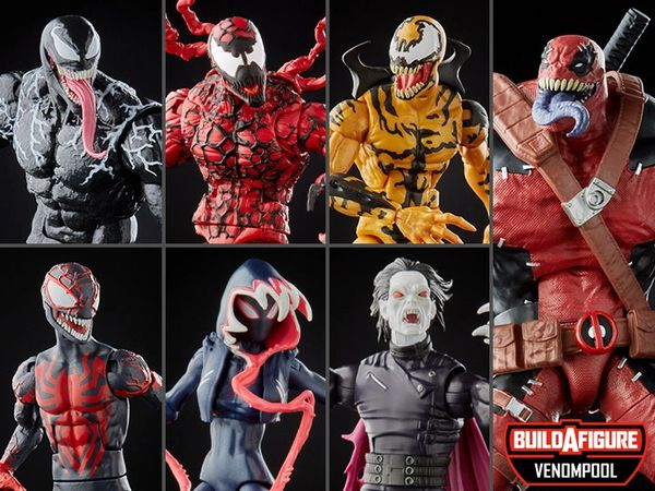 *PRE-SALE* Marvel Legends Venom Wave 2 Set of 6 Figures (Venompool BAF Series)
