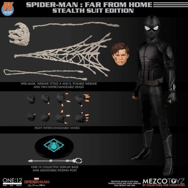 Mezco One:12 Collective Spider-Man: Far From Home (Stealth Suit) PX Previews Exclusive