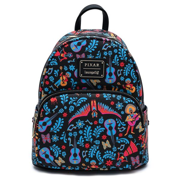 Loungefly Disney Pixar Coco Dia De Los Muertos AOP Mini Backpack