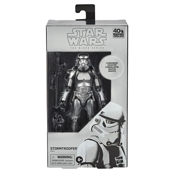 "Star Wars: The Black Series 6"" Stormtrooper (Carbonized) Action Figure"