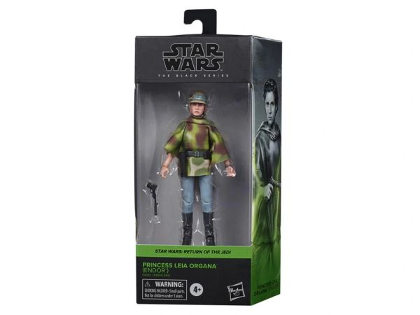 "Star Wars: The Black Series 6"" Princess Leia in Endor Gear (Return of the Jedi) Action Figure"