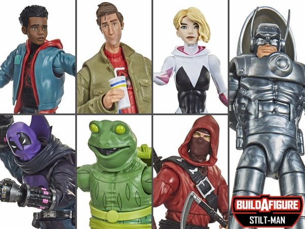 Marvel Legends Spider-Man: Into the Spider-Verse Wave 1 Set of 6 Figures (Stilt-Man BAF Series)