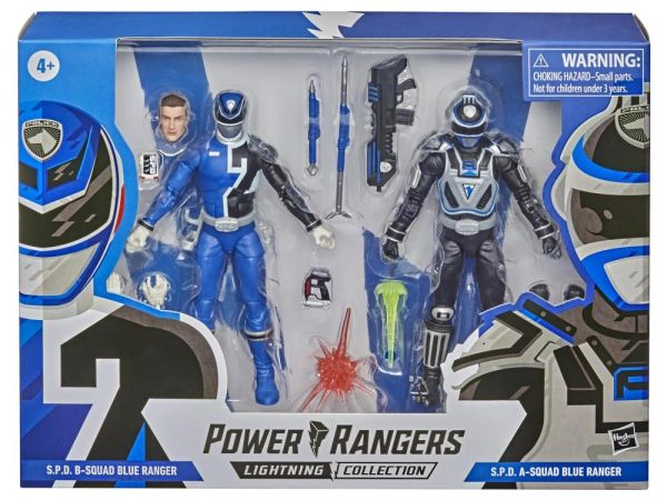 *PRE-SALE* Power Rangers Lightning Collection S.P.D. B-Squad VS A-Squad Blue Ranger Two-Pack