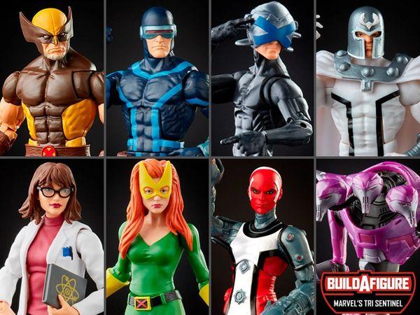 *PRE-SALE* Marvel Legends X-Men Wave 6 Set of 7 Figures (Tri Sentinel BAF) Action Figure Set
