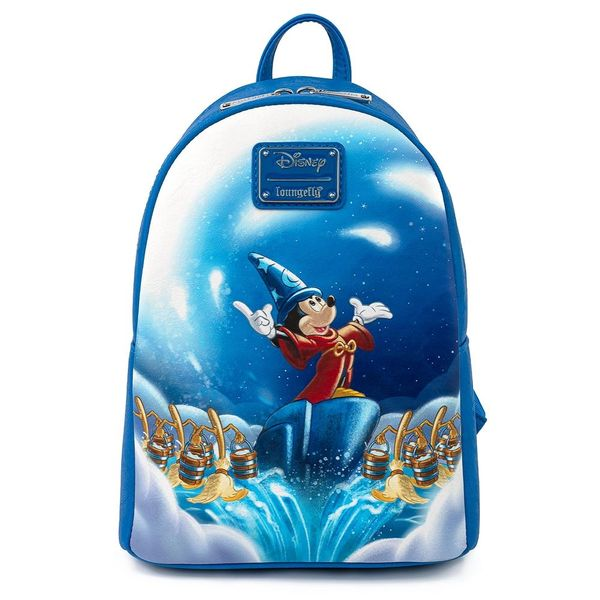Loungefly Disney Mini-Backpack Fantasia 80 Years Sorcerer Mickey