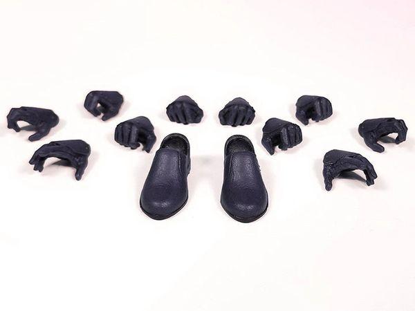 *PRE-SALE* Mythic Legions: Illythia Hands & Feet (Black Leather) Accessory