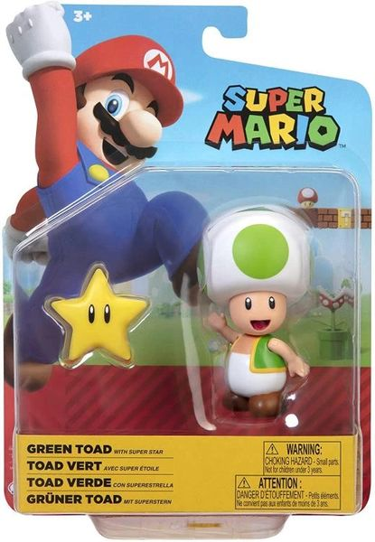 "World of Nintendo 4"" Wave 23 Super Mario Bros. Green Toad Action Figure"