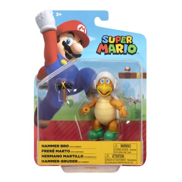 "World of Nintendo 4"" Wave 23 Super Mario Bros. Hammer Bro Action Figure"