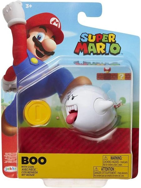 "World of Nintendo 4"" Wave 23 Super Mario Bros. Boo Action Figure"