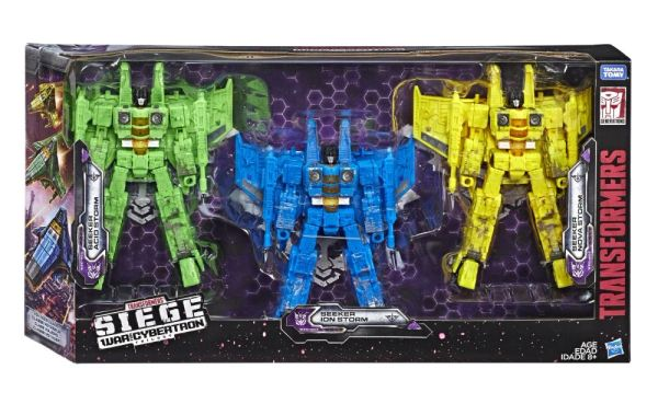 *PRE-SALE* Transformers War for Cybertron: Siege Voyager Seekers Three-Pack (Acid Storm, Ion Storm, Nova Storm) Action Figures