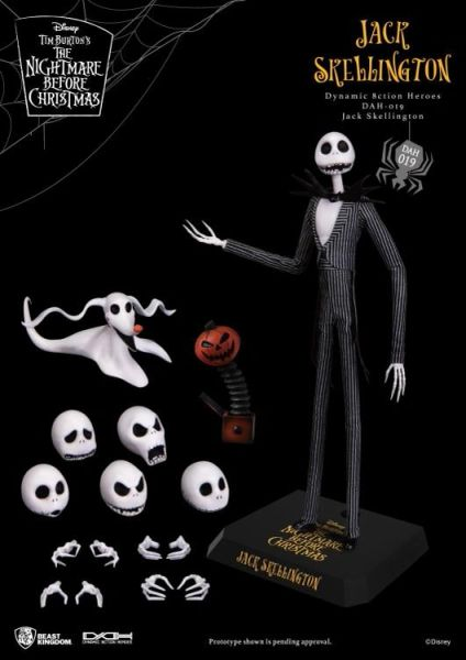 The Nightmare Before Christmas Dynamic 8ction Heroes DAH-019 Jack Skellington Action Figure