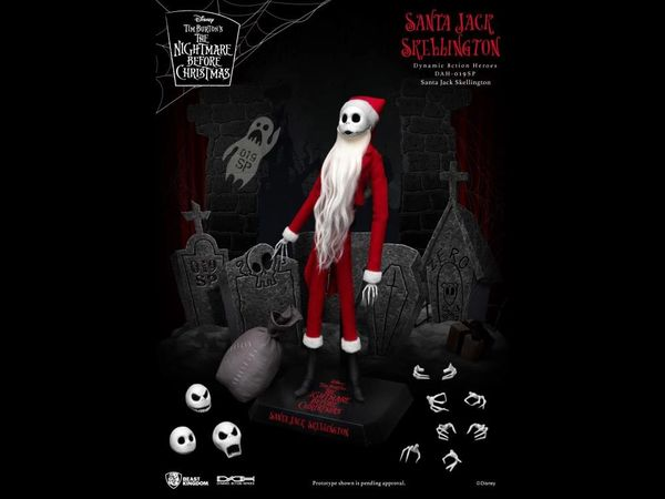 The Nightmare Before Christmas Dynamic 8ction Heroes DAH-019SP Santa Jack Action Figure