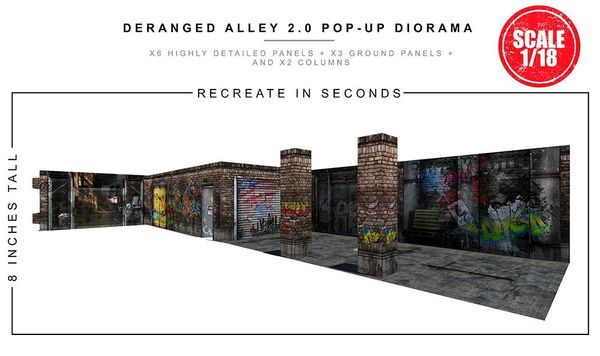 Extreme Sets: Deranged Alley (2.0) 1/18 Scale Pop-Up Diorama