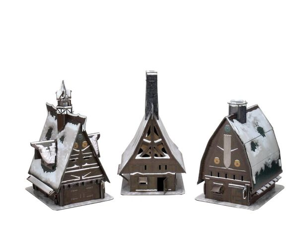 D&D Icons of the Realms Icewing Dale Ten Towns Papaercraft Set