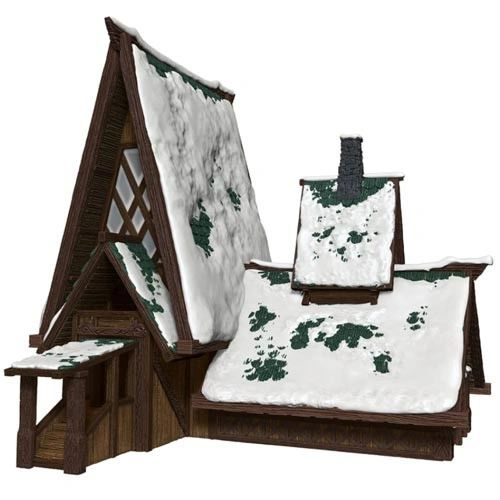 D&D Icons of the Realms Icewing Dale The Lodge Papercraft Set
