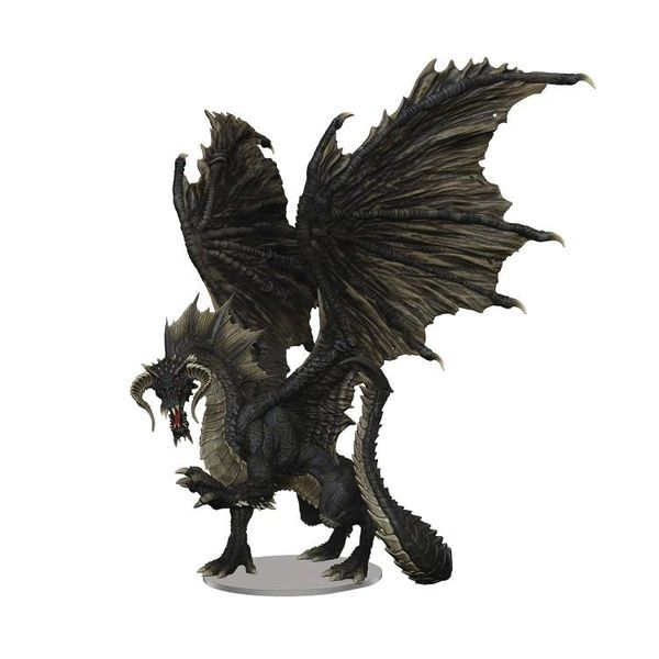 Dungeons & Dragons Icons of the Realms Adult Black Dragon Premium Painted Figure