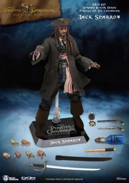 Pirates of the Caribbean Dynamic 8ction Heroes DAH-017 Jack Sparrow Action Figure