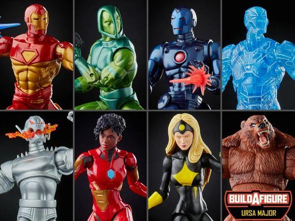 *PRE-SALE* Marvel Legends Iron Man Wave 1 Set of 7 Action Figures (Ursa Major BAF)