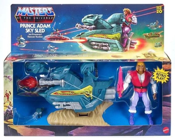 Masters of the Universe Origins Prince Adam Action Figure w/ Sky Sled