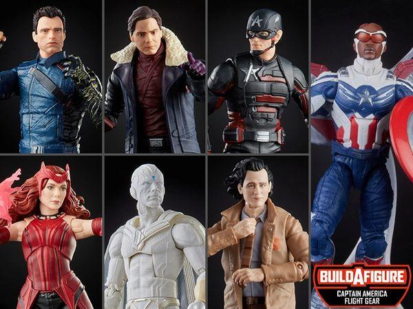 *PRE-SALE* Marvel Legends Disney+ Wave 1 Set of 7 Figures (Captain America Flight Gear BAF)