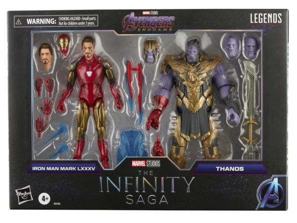 *PRE-SALE* Marvel Legends The Infinity Saga Endgame Iron Man vs. Thanos Action Figure 2-Pack